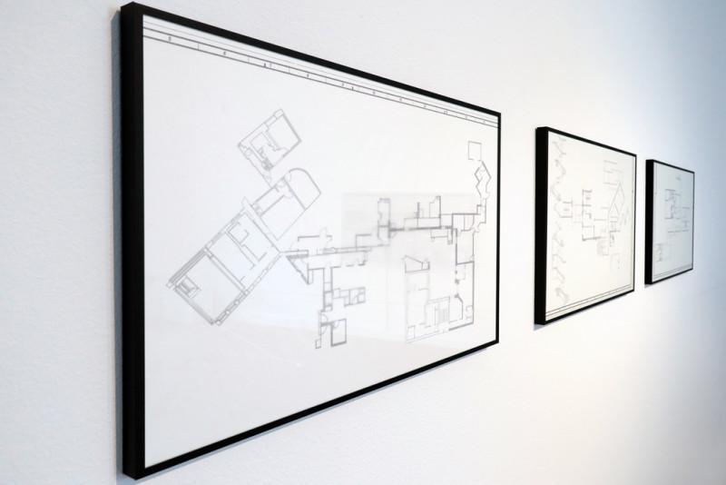 gerahmte Grundrissfragmente von Neuköllner Wohnungen