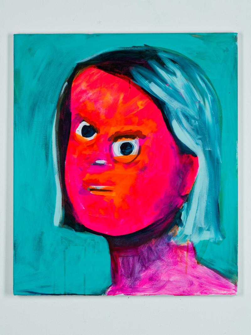 wütendes rotes Portraitgesicht