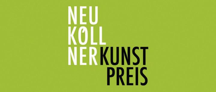 Auf grünem Untergrund steht: Neuköllner Kunstpreis.